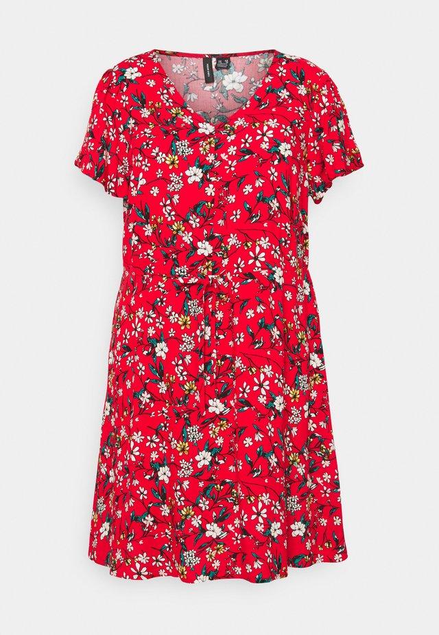 VMSIMPLY EASY DRESS - Korte jurk - goji berry/lotte