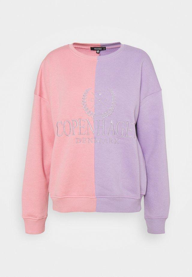 GRAPHIC COLOUR BLOCK - Sweatshirt - pink