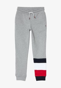 Tommy Hilfiger - GLOBAL STRIPE COLORBLOCK PANTS - Tracksuit bottoms - grey - 2