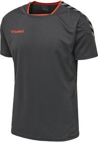 Hummel - T-shirt z nadrukiem - asphalt - 2