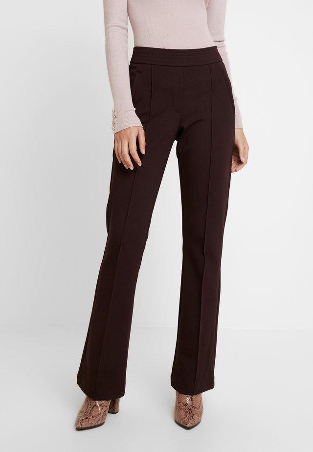 NOISE - Spodnie materiałowe - port melange