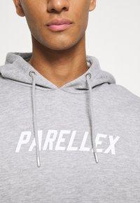 PARELLEX - LOUNGE HOOD LOUNGE TRACKSUIT SET - Collegepaita - grey marl - 4