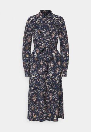 VMLALLIE CALF DRESS  - Skjortklänning - navy blazer