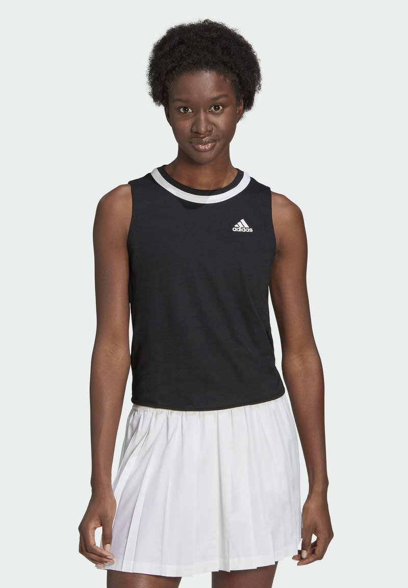 adidas Performance - CLUB KNOT TANK TENNIS AEROREADY PRIMEGREEN REGULAR TOP - Top - black