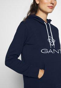 GANT - LOCK UP HOODIE DRESS - Robe d'été - evening blue - 3