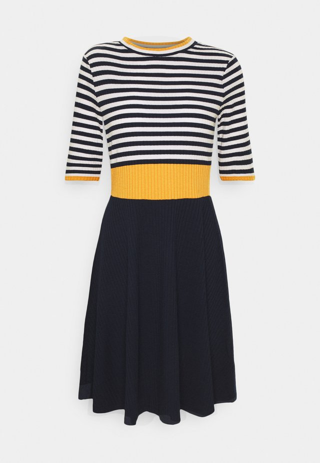 STRIPE DRESS - Jumper dress - yellow