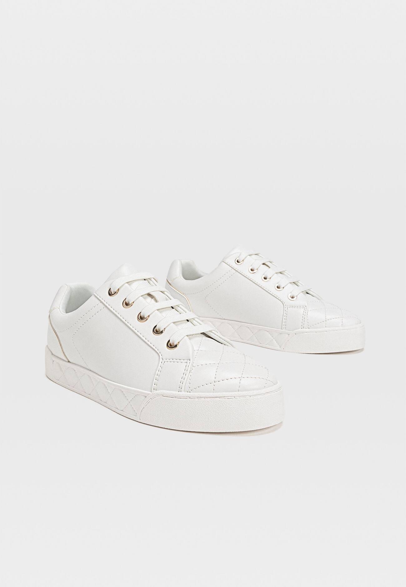 MIT PRÄGUNG AN DER ZEHENPARTIE Sneakers white