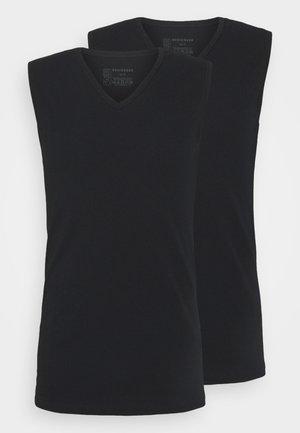 2PACK Tank Top V-Ausschnitt Organic Cotton - 95/5 Original - Undershirt - schwarz