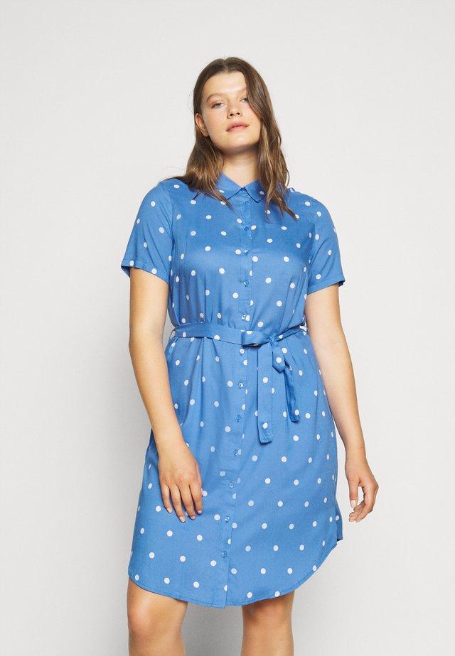 JRMILLE - Robe chemise - blue/white