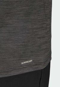 adidas Performance - M HT EL TEE - T-shirt z nadrukiem - black melange - 7