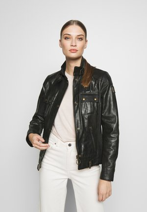 GANGSTER JACKET - Leather jacket - black