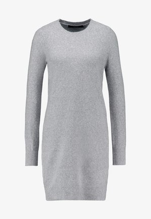 VMDOFFY O-NECK DRESS - Pletené šaty - light grey melange
