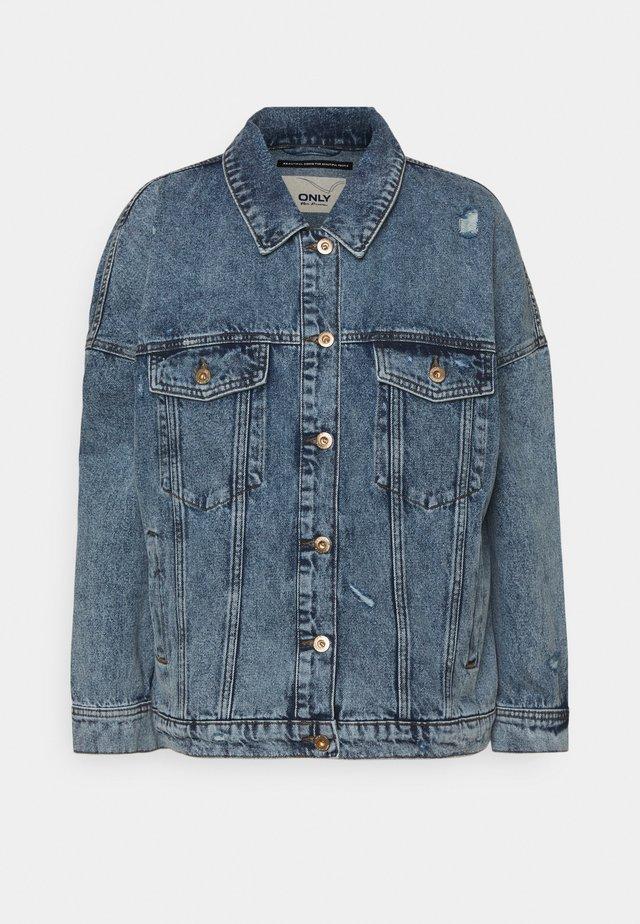 ONLSAFE LIFE OVERSZE - Denim jacket - medium blue denim