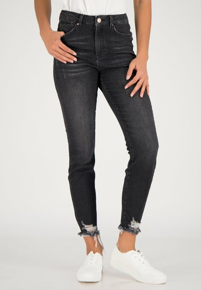 Jeans Skinny Fit - black heavy washed
