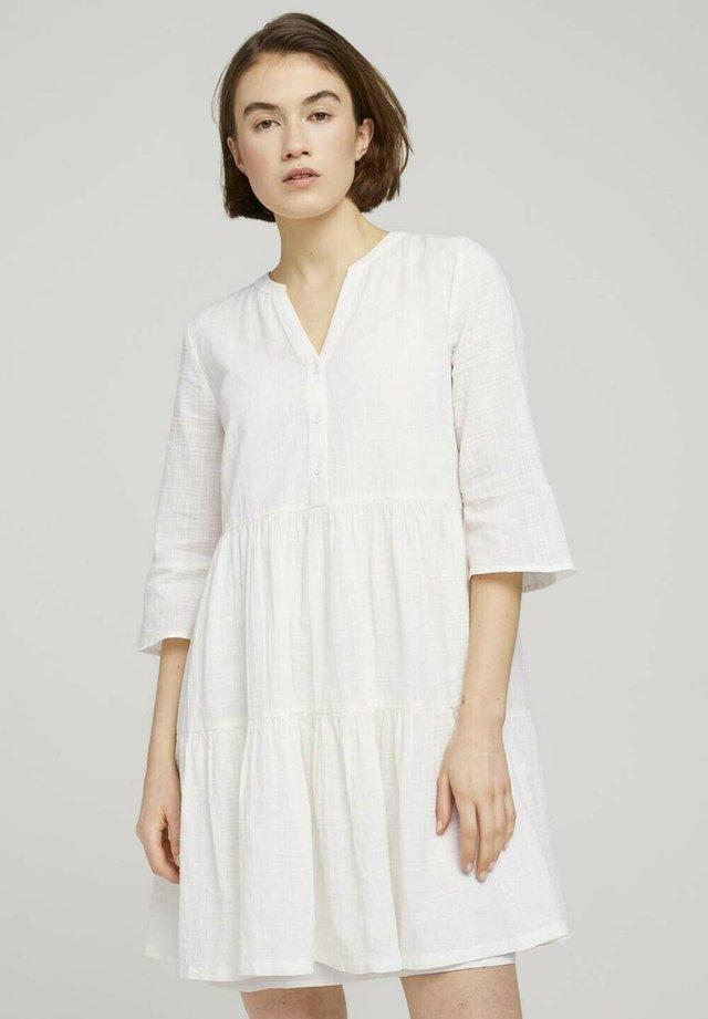 Korte jurk - gardenia white