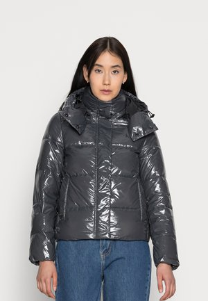 HIGH SHINE PUFFER - Winter jacket - gray