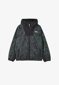 PULL&BEAR - Lehká bunda - mottled dark green - 4