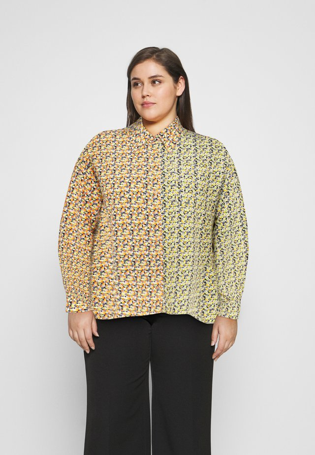 MIX PRINT CROP WITH LONG SLEEVES - Blouse - multi orange/yellow