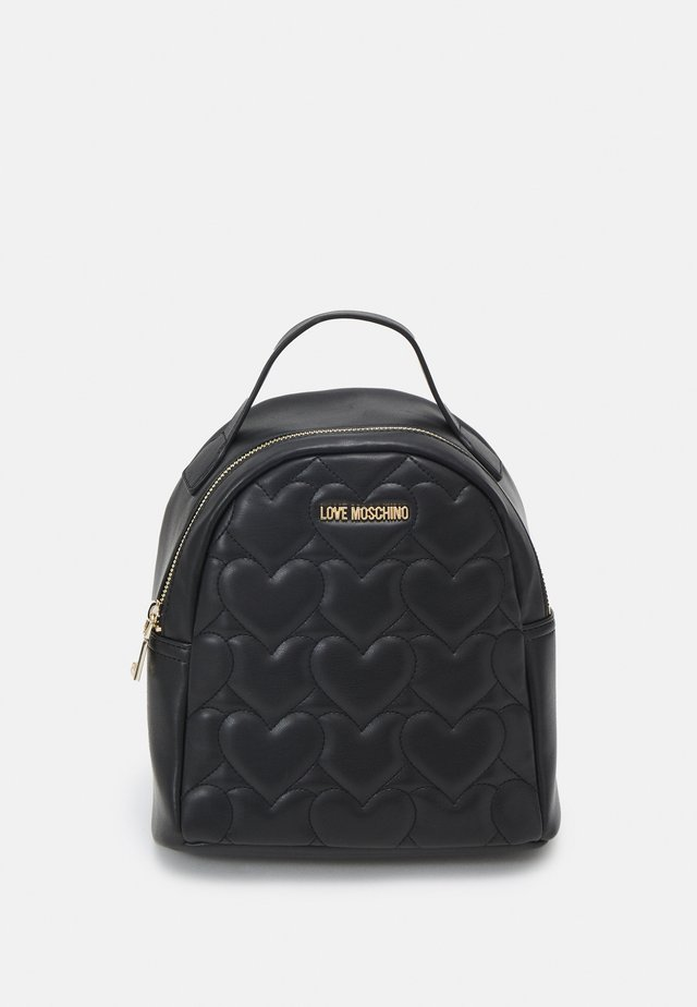 HEART QUILTED BACKPACK - Rucksack - nero