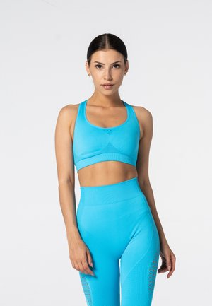 PHASE SEAMLESS - Sports bra - blue