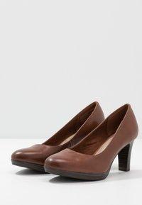 Tamaris - Platform heels - brandy - 4