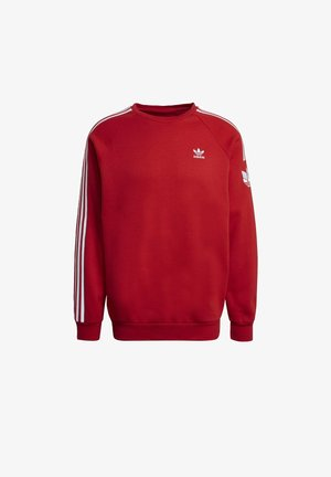ADICOLOR 3D TREFOIL 3-STRIPES - Sweatshirts - red