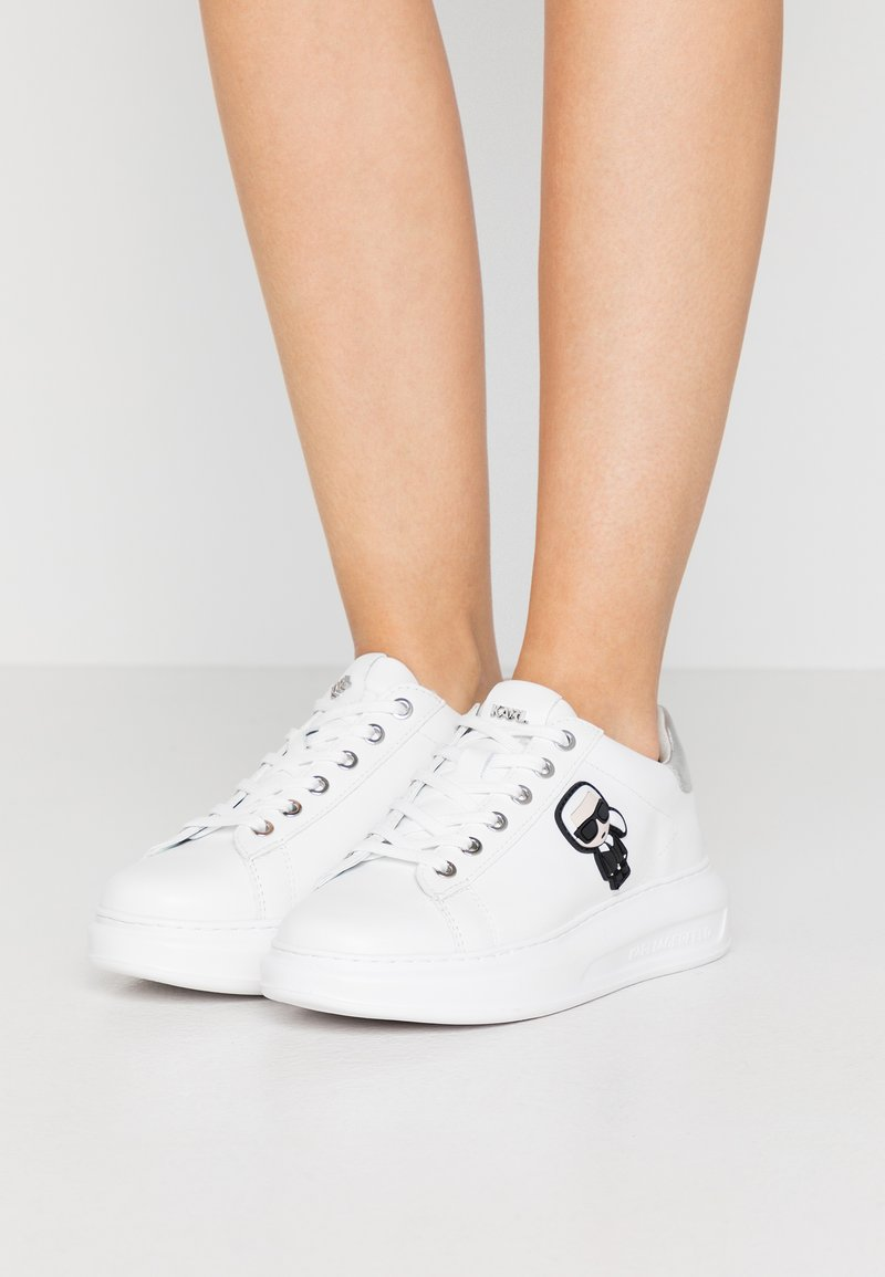 KARL LAGERFELD - KAPRI IKONIC LACE - Sneaker low - silver