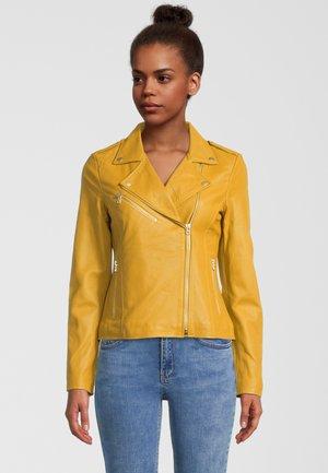 JULIA - Leather jacket - honey
