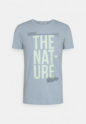 Print T-shirt - foggy blue