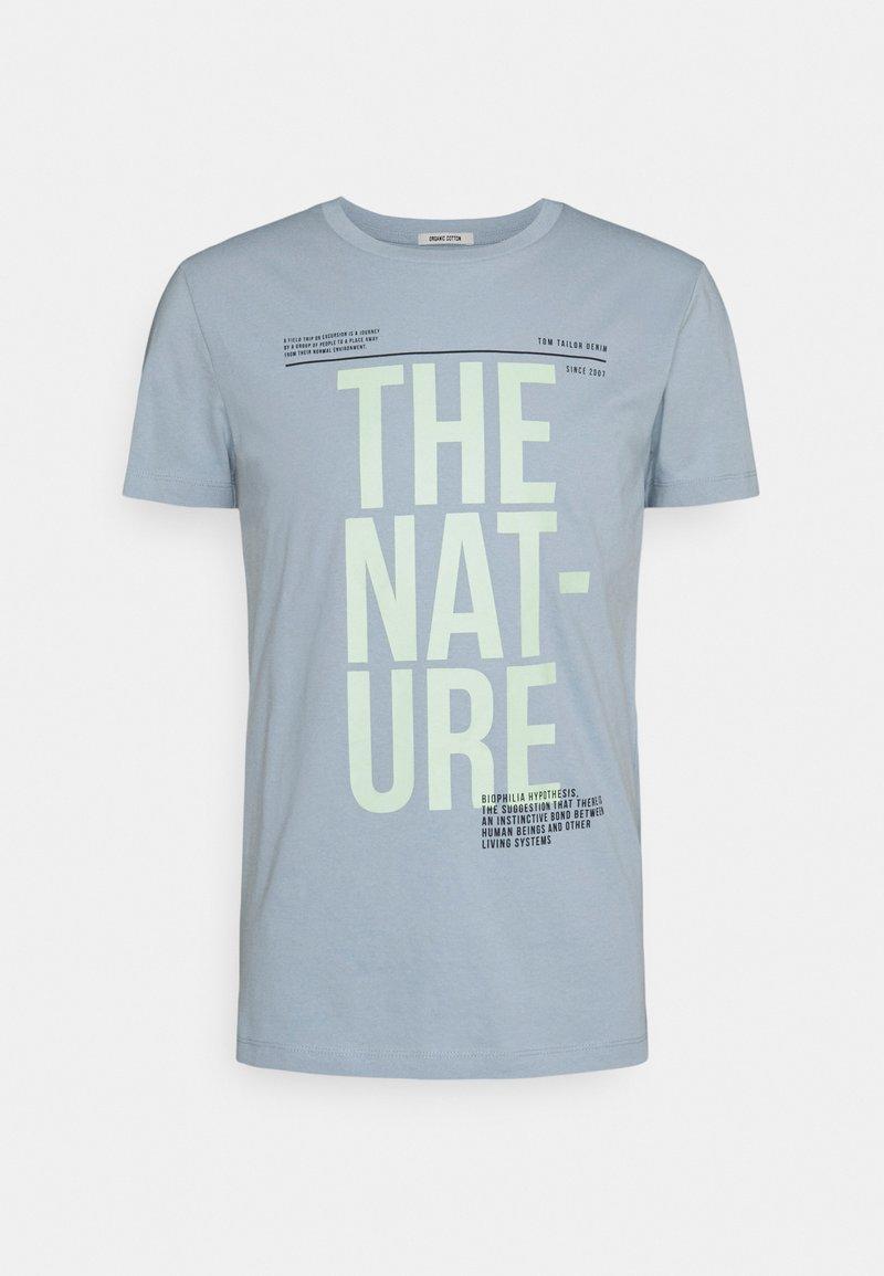 TOM TAILOR DENIM - Print T-shirt - foggy blue