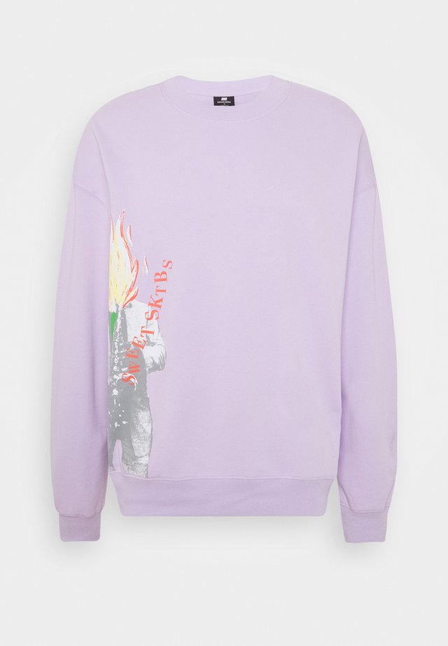 SWEET BIG LOOSE CREW UNISEX - Collegepaita - lilac