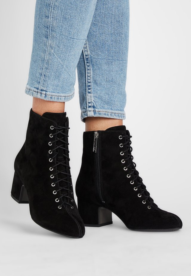 RACHEL - Lace-up ankle boots - schwarz