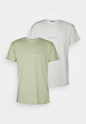 ESSENTIAL REGULAR 2 PACK UNISEX - T-shirt imprimé - khaki