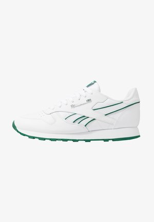CLASSIC LEATHER LOW-CUT DESIGN SHOES - Tenisky - white/clover green