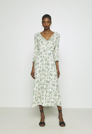 NISHA DRESS - Day dress - cream/green