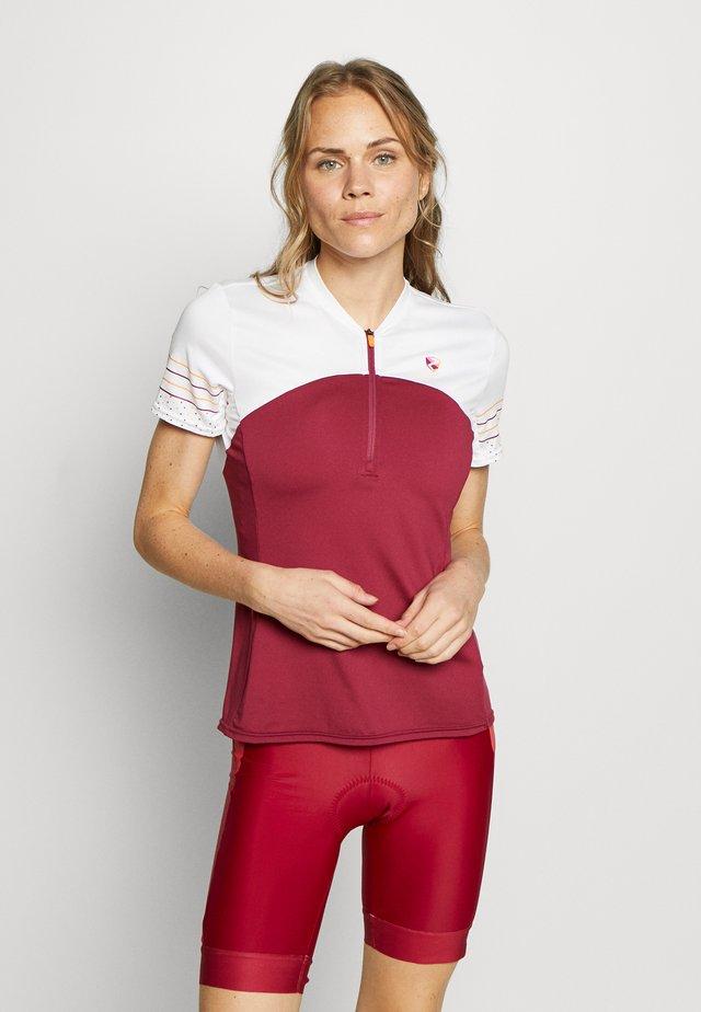 NEYA - T-shirt con stampa - cassis