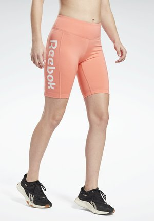 LINEAR LOGO FITTED SHORTS - Leggings - red
