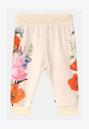 SUSANNE - Trousers - white/multi-coloured