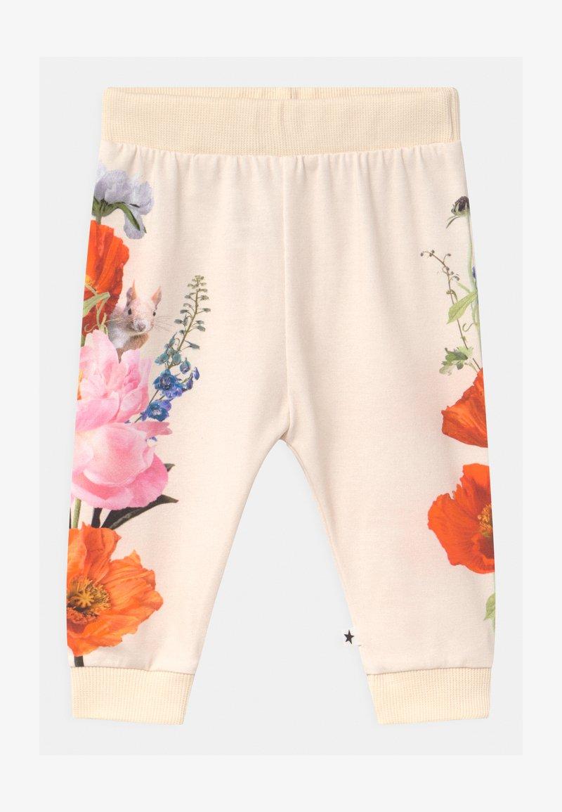 Molo - SUSANNE - Trousers - white/multi-coloured