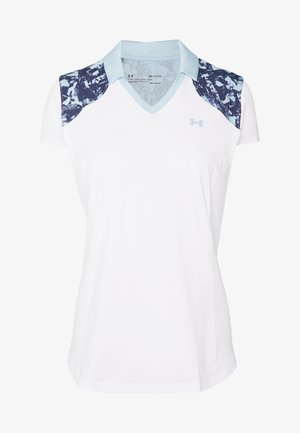 ZINGER BLOCKED - T-Shirt print - white/blue frost