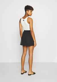 Even&Odd - BASIC - Mesh mini skirt - A-line skirt - black - 2