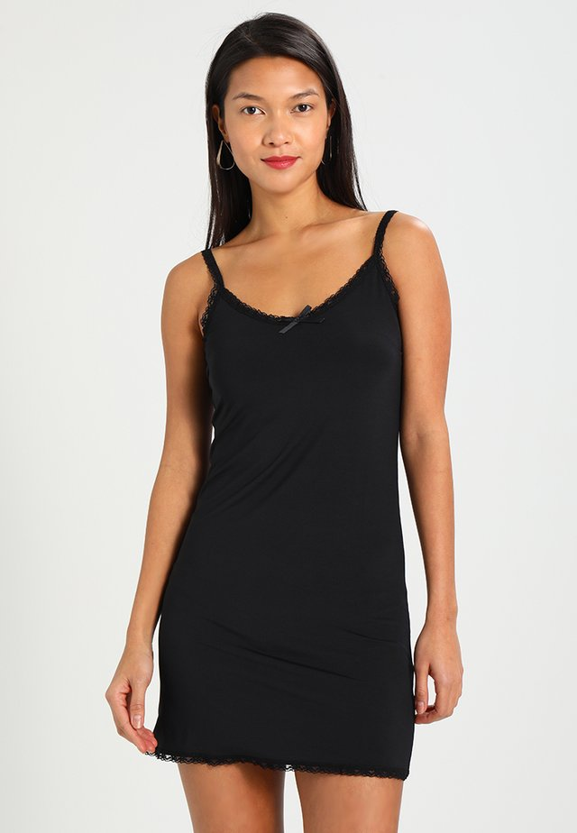 LISE UNDERDRESS - Jersey dress - pitch black