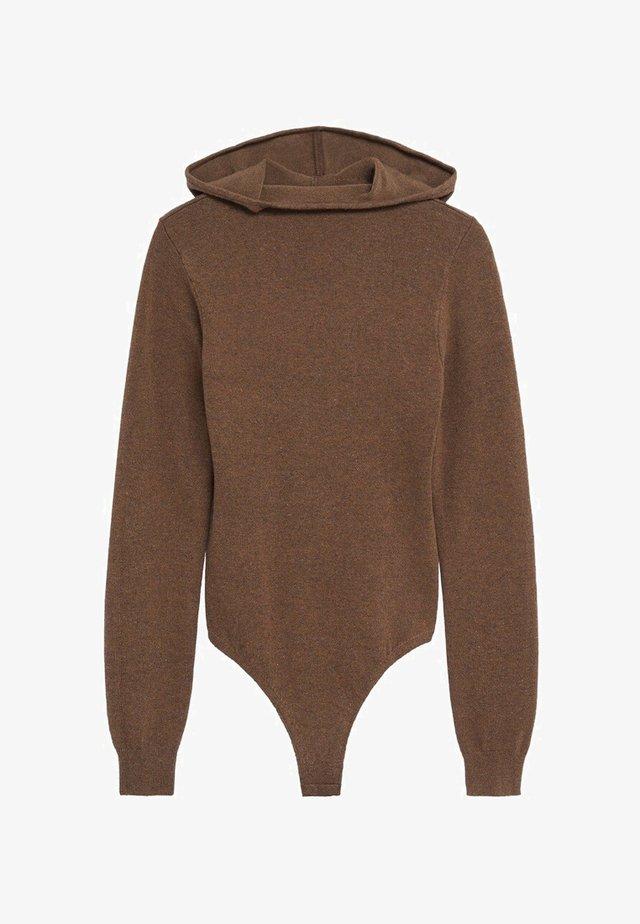 Hoodie - medium brown
