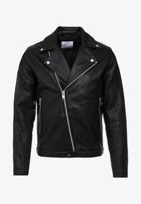 Samsøe Samsøe - SPIKE JACKET  - Leather jacket - black - 4