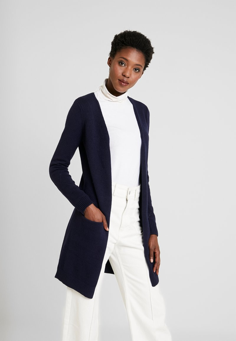 Cream - KAITLYNCR CARDIGAN SOFT - Cardigan - royal navy blue
