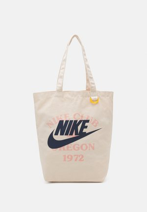 HERITAGE TOTE UNISEX - Bolso shopping - natural/natural/midnight navy