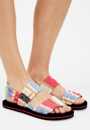 Sandals - yellow with red