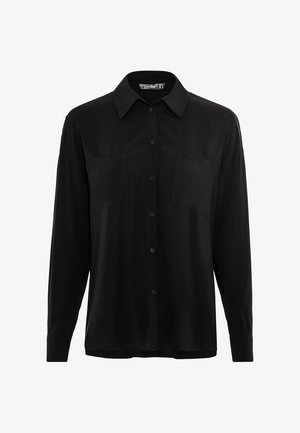 IN OVERSIZE - Overhemdblouse - schwarz