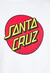 Santa Cruz - UNISEX CLASSIC DOT  - Triko spotiskem - white - 4