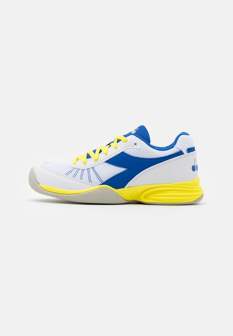 Diadora - S. CHALLENGE 3 YOUTH CARPET UNISEX - Multicourt tennis shoes - royal/white/yellow fluo